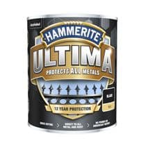 Hammerite Ultima Smooth Metal Paint - 750ml Black